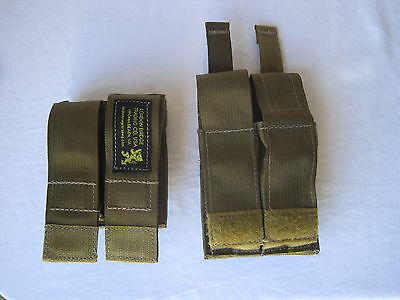 2X LBT Double Pistol Ammunition Magazine Pouch W/ Kydex Coyote Tan Navy SEAL