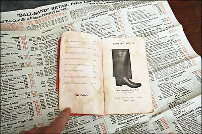 Vintage 1917 SHOE PRICE LIST goodyear rubber boots catalog ball band advertising
