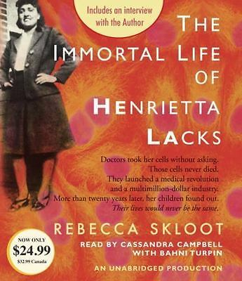 The Immortal Life of Henrietta Lacks by Rebecca Skloot (2015, CD, Unabridged)