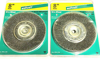 Cool 2 New Wolfcraft 8 Crimped Wire Wheels Coarse Fine 1413 Gmtry Best Dining Table And Chair Ideas Images Gmtryco