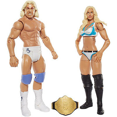 WWE Battle Packs 41 Charlotte & Ric Flair Wrestling Action Figure Kid Toy Mattel