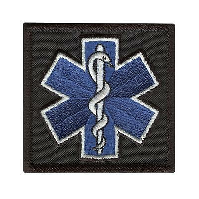 EMT EMS Star of Life Paramedic embroidered morale tactical sew iron on patch