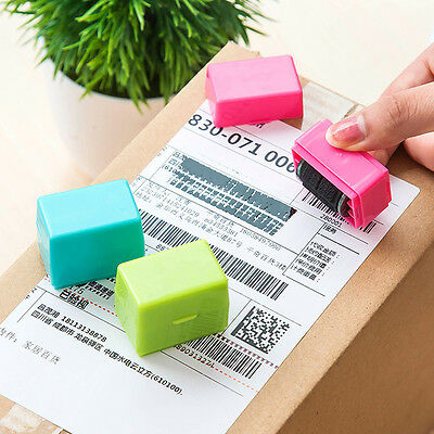 Hot 1PC Security Hide Express Waybill ID Garbled Self-Inking Stamp Protect Seal