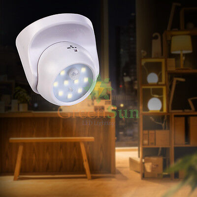 360° Motion Sensor Night Light 9 Bright LED PIR Security Light ON/OFF/AUTO