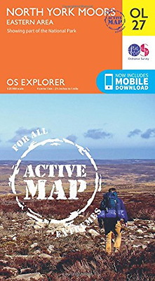 OS Explorer ACTIVE OL27 North York Moors - Eastern area - Map NEW Ordnance Surve