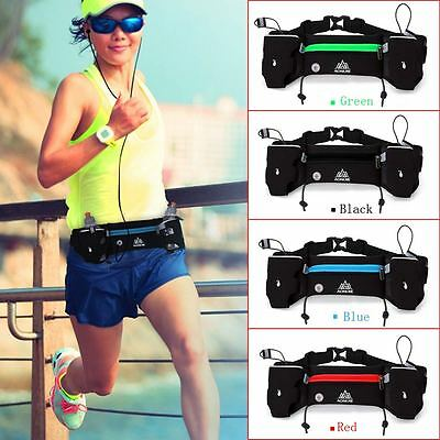 Outdoor Walking Running Jogging Water Bottle Waist Bag Hydration Belt New