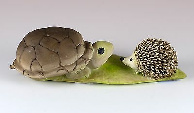 "Turtle and Hedgehog Figurine 5"" Long Resin New In Box!"