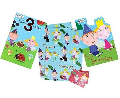 BEN & HOLLY Birthday Cards - Card/Party/Greetings Cards/Age/1/2/3/Gift Wrap