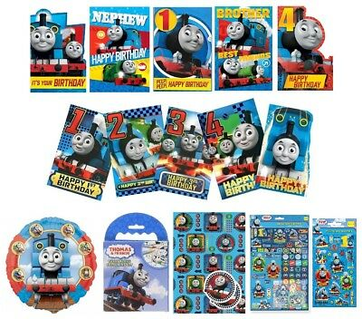 THOMAS & FRIENDS Birthday Cards - Card/Party/Greetings Cards/Age/1/2/3/Gift Wrap