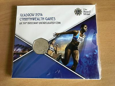 2014 Royal Mint British Glasgow Commonwealth Games 50p Fifty Pence Coin Pack