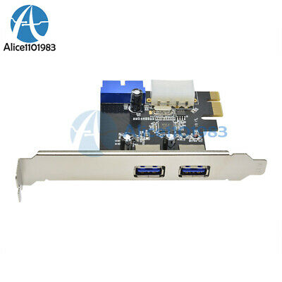 2 Ports PCI Express USB 3.0 Front Panel with 4-Pin & 20 Pin Control Card Adapter