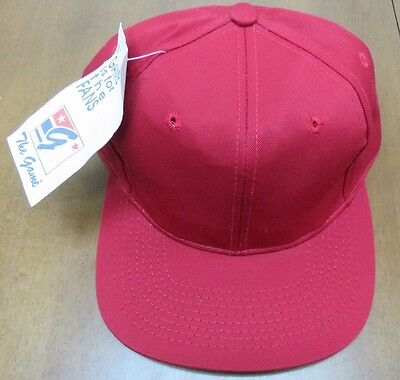 **Vintage** The Game Solid Crimson Snapback Hat New Old Stock W/ Tags