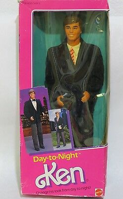 Vintage Mattel DAY-TO-NIGHT Ken Doll 9019 With Original Box and Accessories 1984