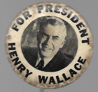 Henry Wallace For President Progressive Party 1948 Third Party Political Pin