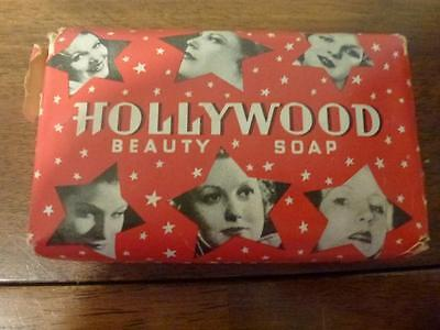 Vintage Colgate Palmolive Hollywood Beauty Bar White Perfumed Toilet Soap Wrappe
