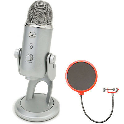 BLUE MICROPHONES Yeti Ultimate USB Microphone Silver - YETI w/ Wind Screen