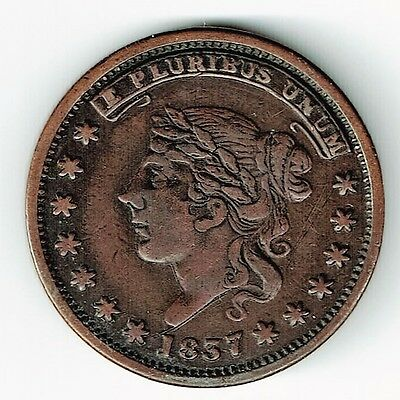 1837 Millions For Defence Not One Cent For Tribute Hard Times Token