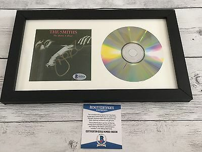 Johnny Marr Signed The Smiths The Queen Is Dead CD Cover Framed Beckett BAS COA