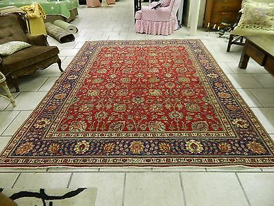 8X10 Vintage Hand Knotted Antique Wool Tabriz Persian Rug Pre-1950