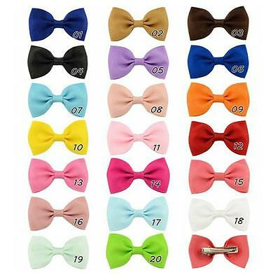 20 Pcs Baby Girls Grosgrain Ribbon Boutique Hair Bows For Teens Toddlers NEW S