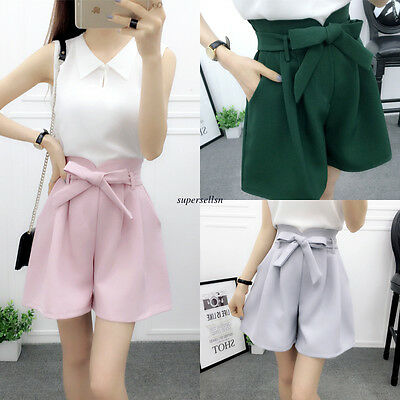 Korean Women Summer High Waisted Shorts Casual Loose Slim Hot Pants Trousers XL