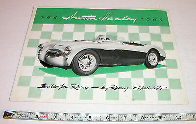 1955 Austin Healey 100S Race Car Factory  Sales Brochure   Original