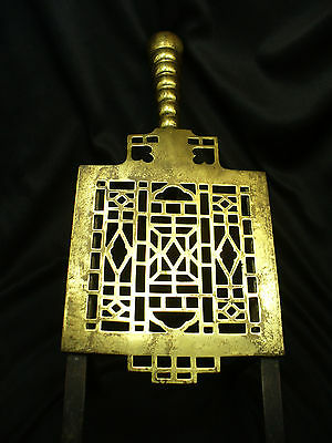 19th Century Brass Trivet with Adjustable Legs and British Register Mark