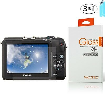 [3x] Tempered Glass Screen Protector For Canon PowerShot M2 G15 G16 SX600 SX610