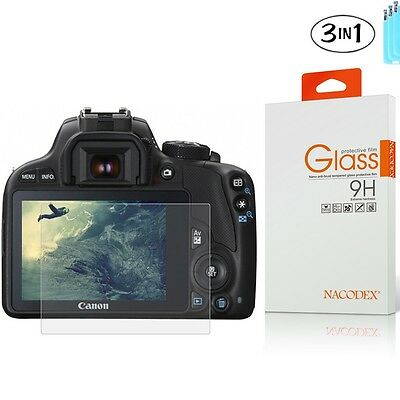 [3x] Tempered Glass Screen Protector For Canon M3 /M5 /M10 /100D / G1 X Mark II