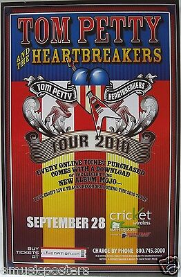 """TOM PETTY & THE HEARTBREAKERS """"TOUR 2010"""" SAN DIEGO CONCERT POSTER- Classic Rock"""