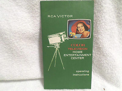 1960s RCA Color Television Operating Instructions Booklet / brochure
