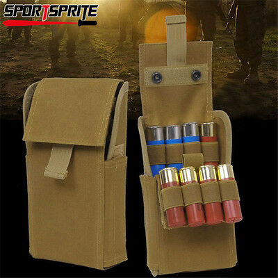 25 Round Shells Shotgun Holder 12GA Magazine Pouch Tactical Molle Ammo Bag TAN