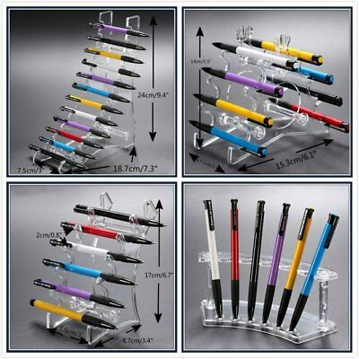 1 2 4 Clear Acrylic Eyebrow Pen Brush Pencil Holder Retail Shop Display Stand