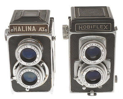 Couple of TLR 6x6 cameras: Hobiflex (III?) and Halina A1, not in working order