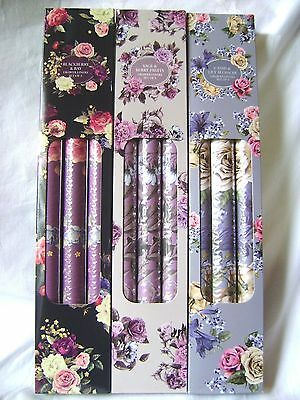 New Boxed 3 Scented Drawer Liners Painted Floral Pattern Berry Cassis Sil Rf0005