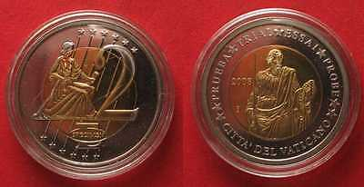 VATICAN 2 Euro 2008 - PATTERN - YEAR of St. PAUL bi-metallic 35mm # 89787