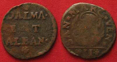 DALMATIA & ALBANIA Gazetta (2 Soldi) ND(1710-1797) copper VF # 90047