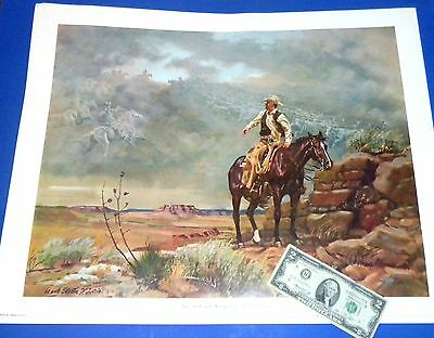 """ONE DARK AND WINDY DAY"" Mark Storm c1979 - Ghost Riders Lg. Artist Signed Print"
