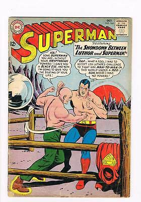 Superman # 164 The Shadow Between Luthor and Superman ! grade 4.0 scarce book !!