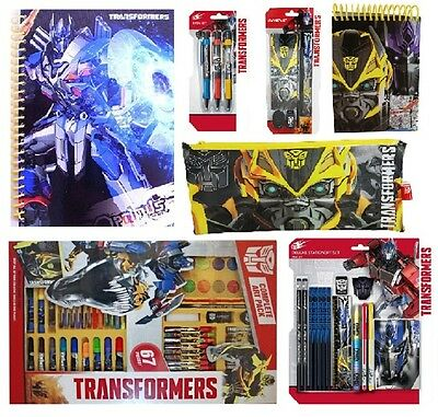 TRANSFORMERS - Stationery, Pencil Cases, Art Set, Notebook, Craft Kids/Gift/Xmas