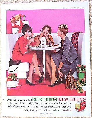 Vintage 1962 Coca-Cola Ad Coke Women After Christmas Shopping Holiday Magazine