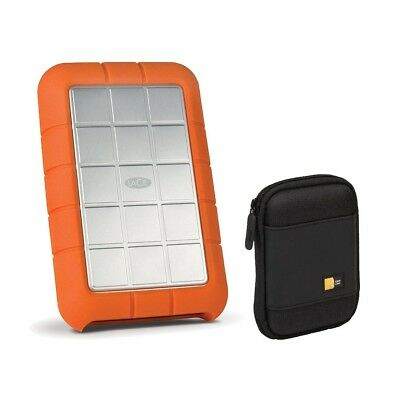 LaCie 1TB Rugged Triple Hard Drive, USB 3.0 & Firewire 800 (STEU1000400) Bundle