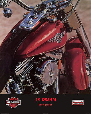 HARLEY DAVIDSON ART PRINT No. # 9 Dream by Scott Jacobs 24x30 Motorcycle Poster