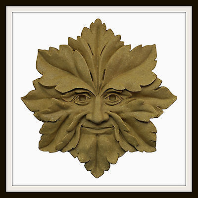The Star Green Man ~ Greenman Wall Plaque ~ Garden Or Indoors ~ Uk Made