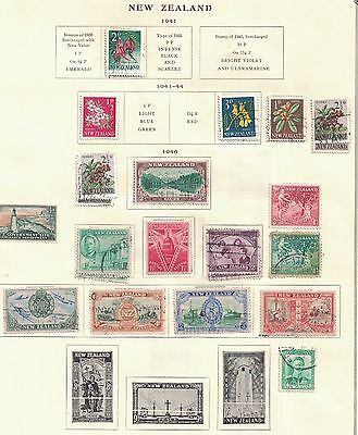 New Zealand 1940-48 Used and Unused on Album Pages