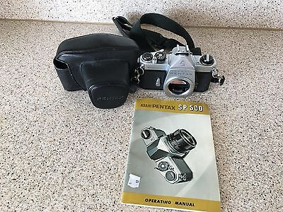 Asahi Pentax SP Spotmatic Camera Body And Case