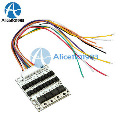 Max 40A Balance Battery Protection Board BMS PCB For 36V 10S 10Packs Li-ion Cell