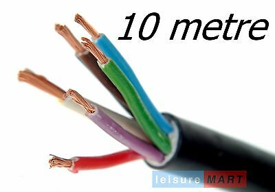 10 Metres of trailer lighting cable 8 core for trailers with reversing lights