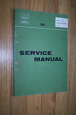 1966 volvo p 120 owners electrical service manual used original wiring  diagrams