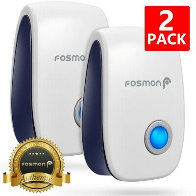 2x Ultrasonic Pest Control Repeller Reject Mosquito Insect Electronic Plug In